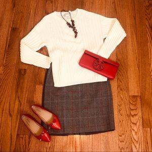 Carlisle Plaid Wool Skirt Size 6
